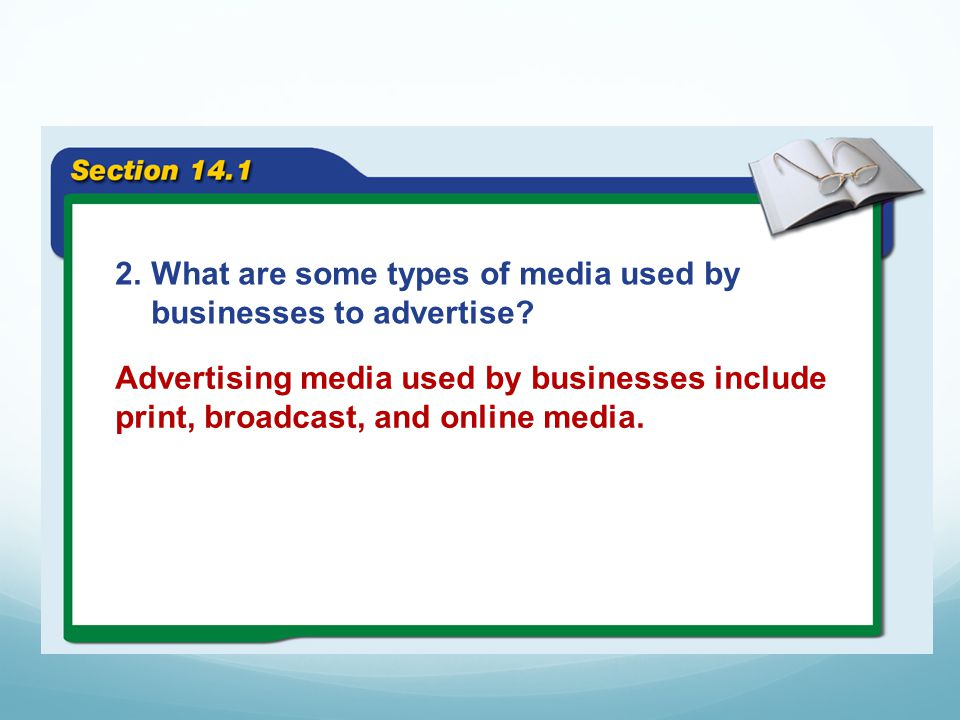 What are some types of media used by businesses to advertise
