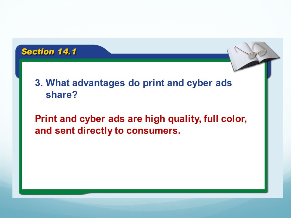 What advantages do print and cyber ads share