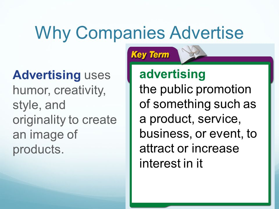 Why Companies Advertise
