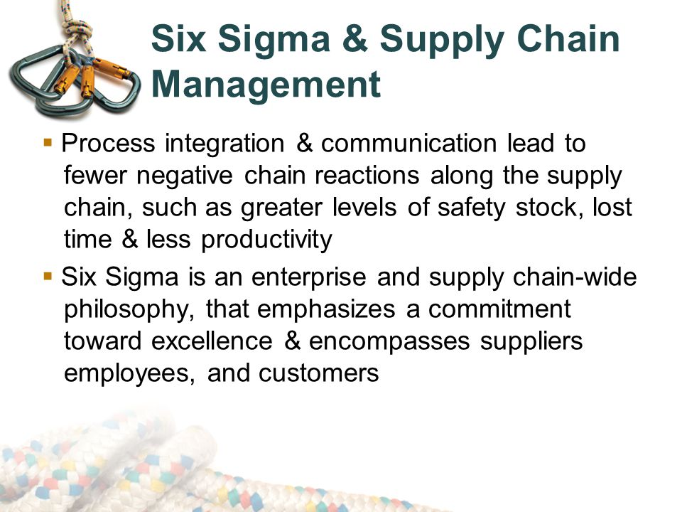 PROCESS MANAGEMENT: LEAN & SIX SIGMA IN THE SUPPLY CHAIN