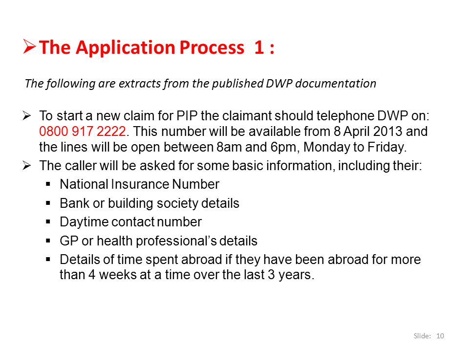 The Application Process 1 :