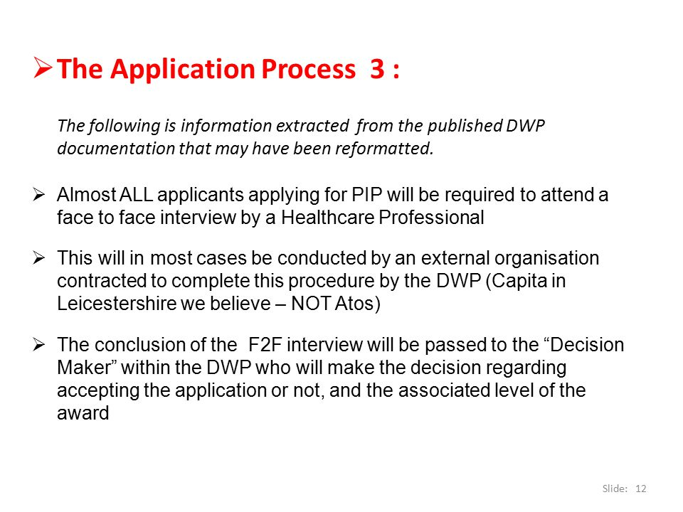 The Application Process 3 :