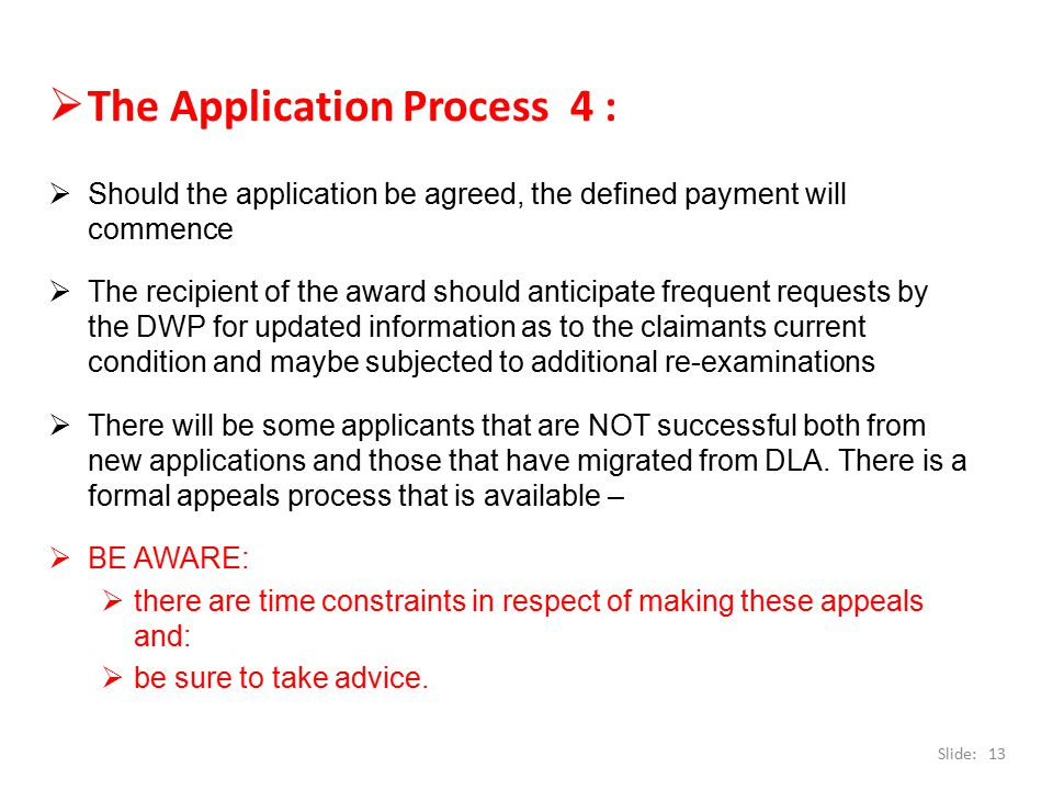 The Application Process 4 :