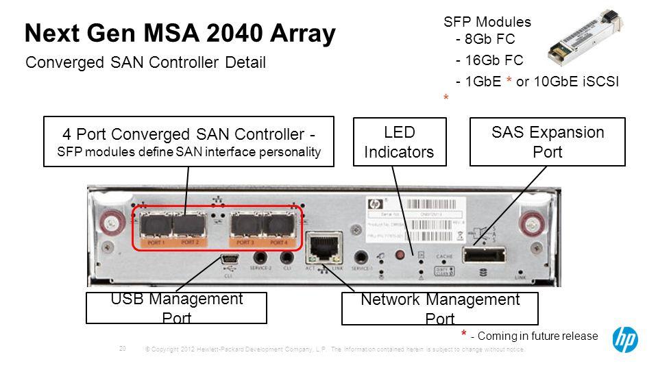 MSA 2040 USB DRIVERS
