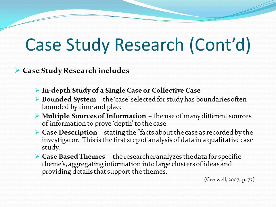 what is a case study research