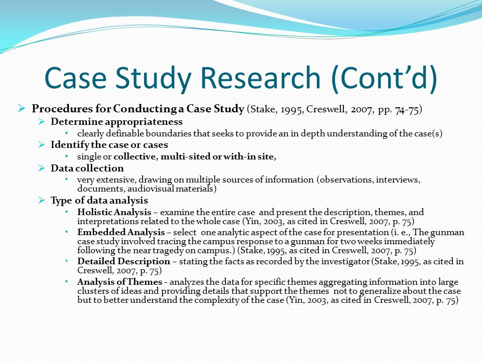 stake case study research