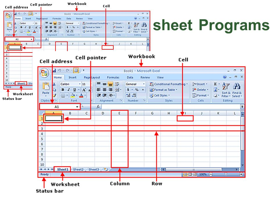 Overview of Spreadsheet Programs