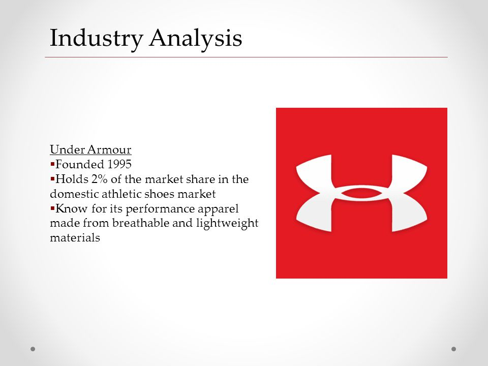 under armour industry analysis