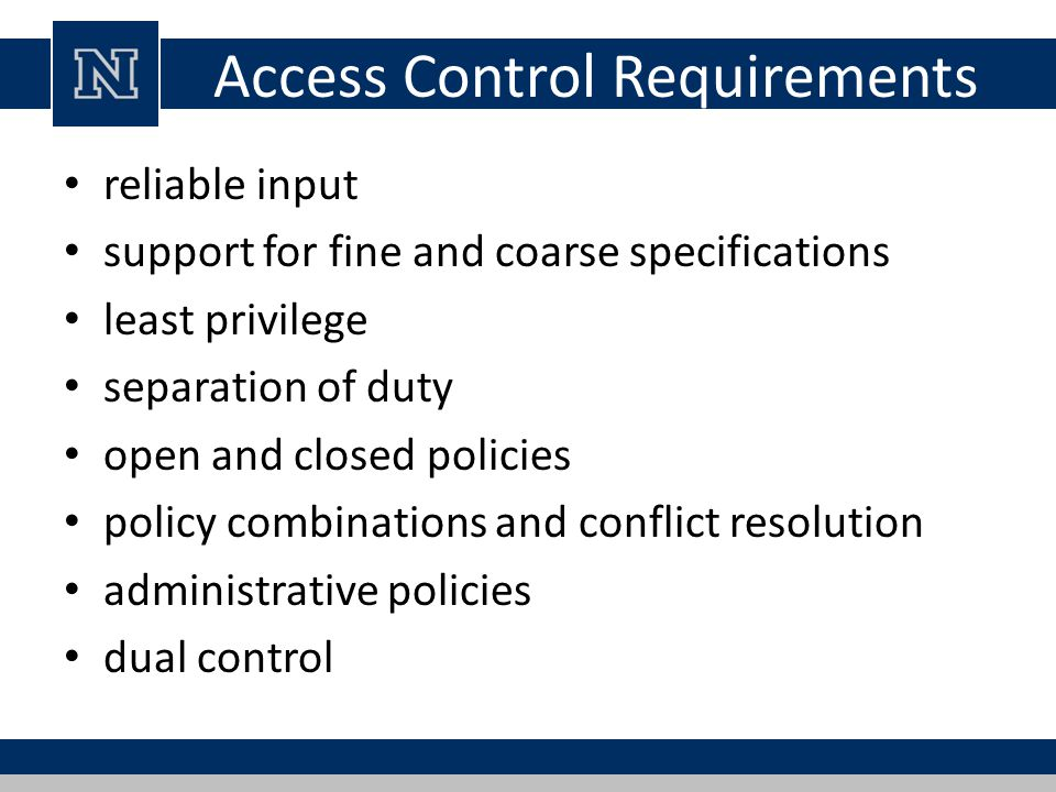 Access Control Requirements