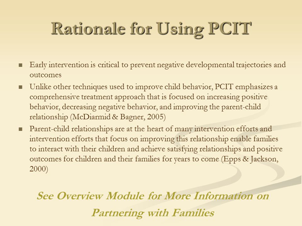 Pcit Improving Child Behavior >> Parent Child Interaction Therapy Pcit Ppt Download