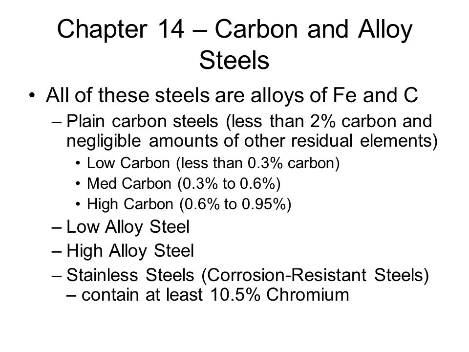 classification of plain carbon steel pdf