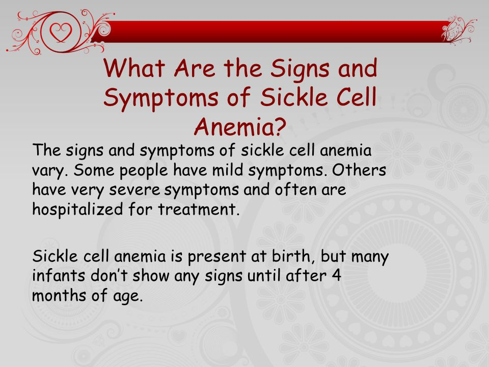 signs and symptoms of sickle cell disease pdf