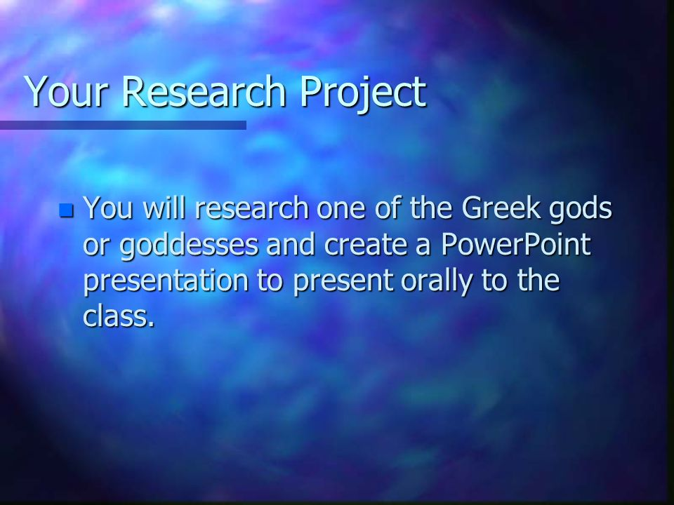 greek god research project