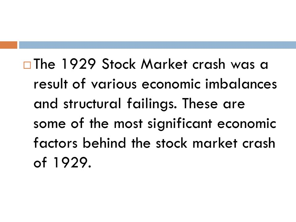 what caused the market crash of 1929