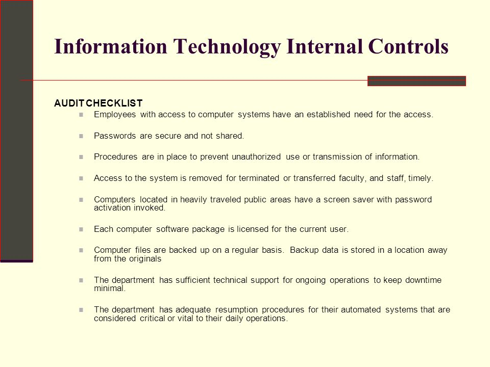 Internal Controls and Best Practices - ppt download