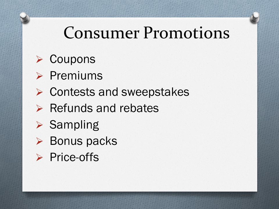 contests sweepstakes and coupons are all forms of sales promotions chapter ppt download 193
