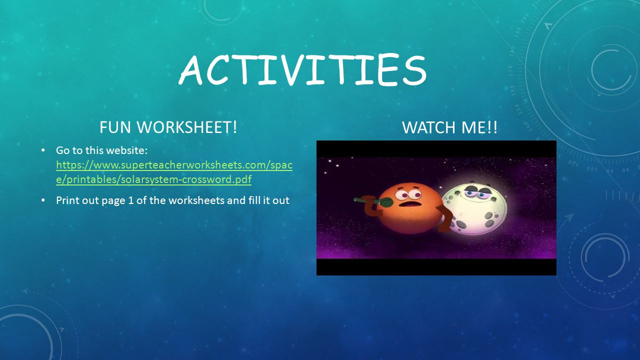 activities FUN WORKSHEET! WATCH ME!!