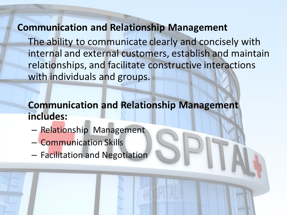 Communication and Relationship Management