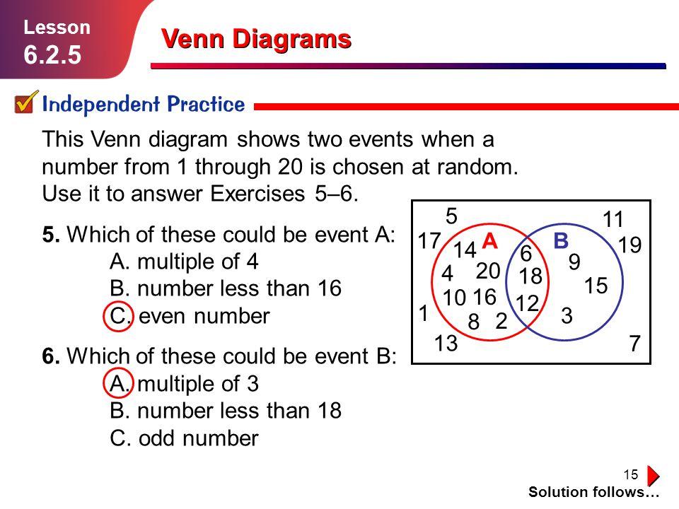 Venn Diagrams Lesson Ppt Video Online Download