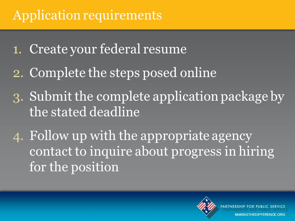 Mastering The Federal Application Process Ppt Download