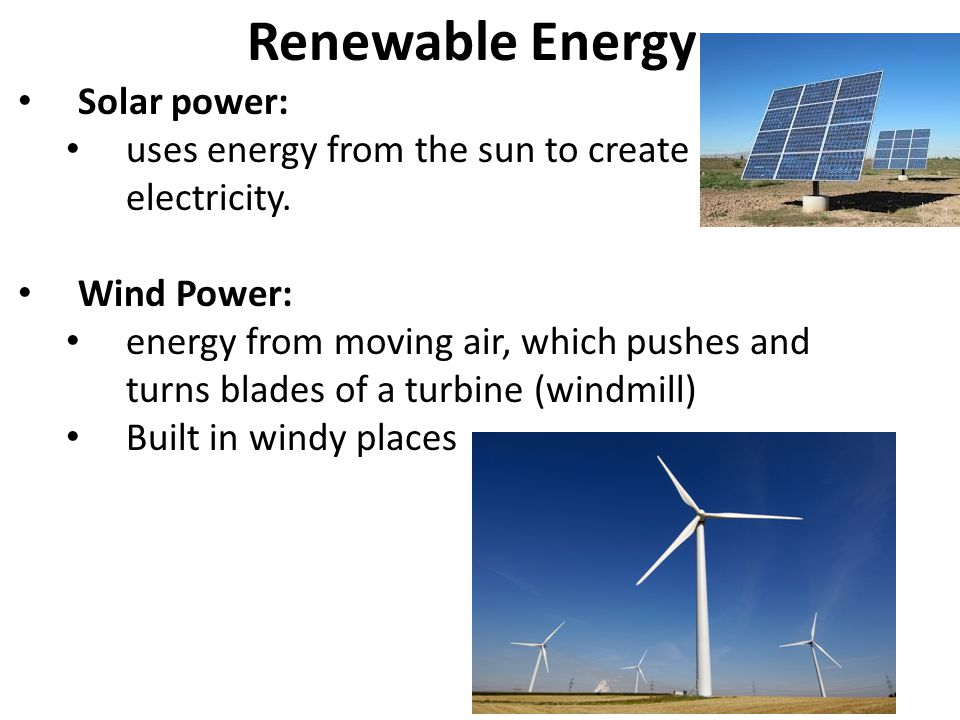Renewable Energy Solar power: