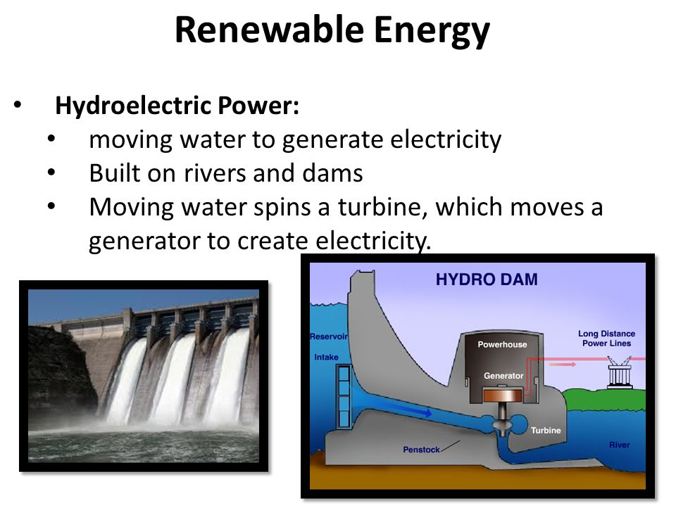Renewable Energy Hydroelectric Power: