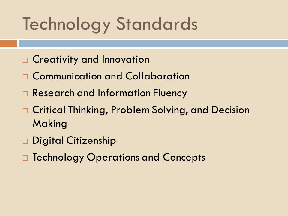 Technology Standards Creativity and Innovation