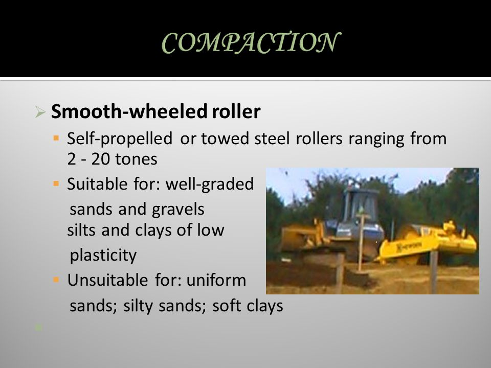 COMPACTION Smooth-wheeled roller