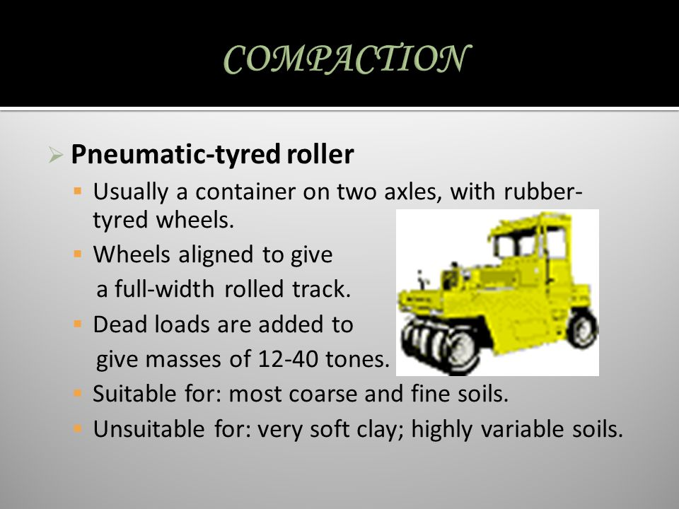 COMPACTION Pneumatic-tyred roller