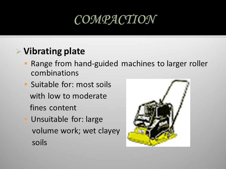 COMPACTION Vibrating plate