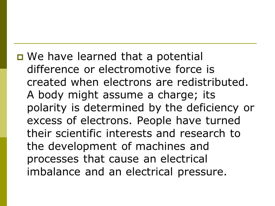 Intro to Chap 5 \'Sources of Electricity\' - ppt download