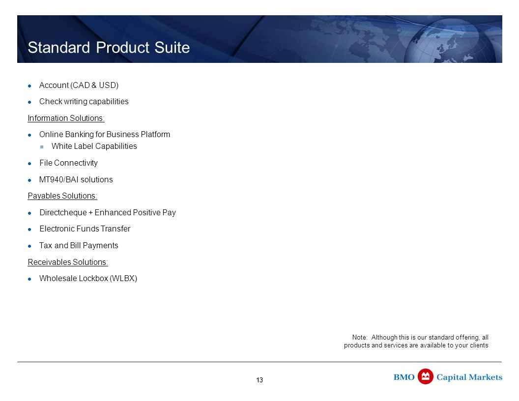 14 Other Product Offerings