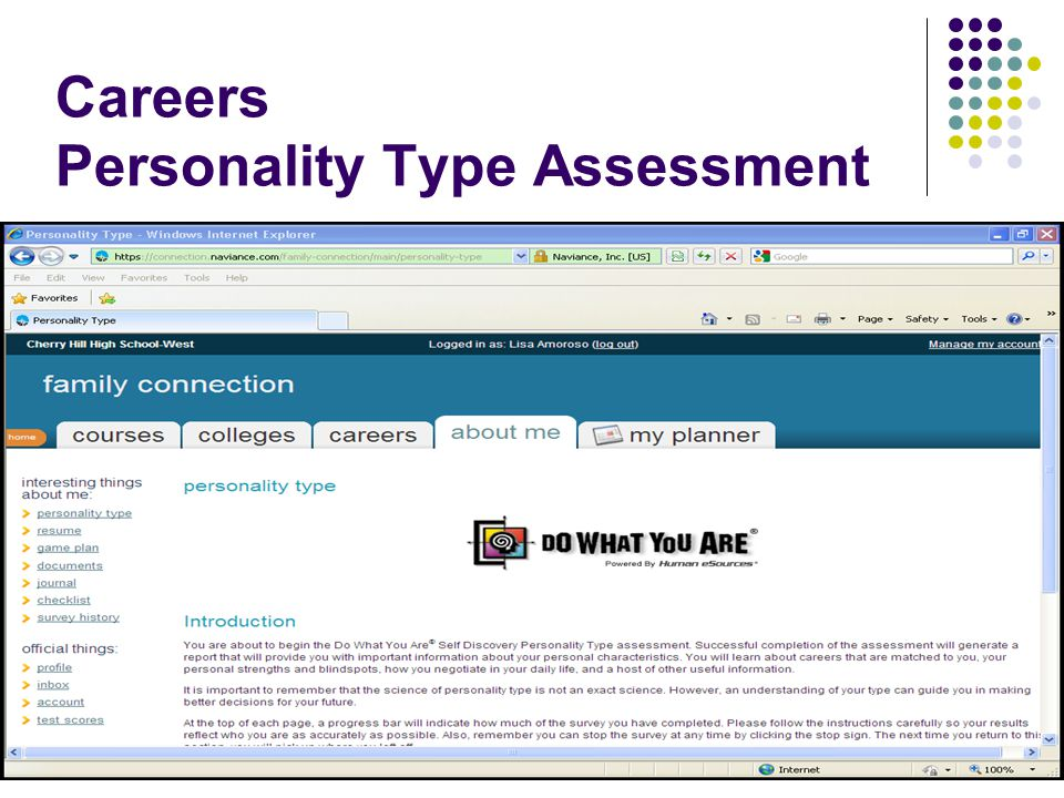 Careers Personality Type Assessment