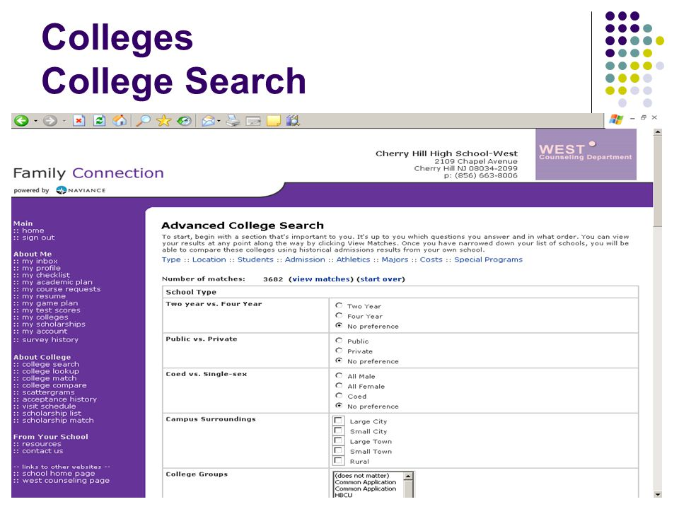 Colleges College Search