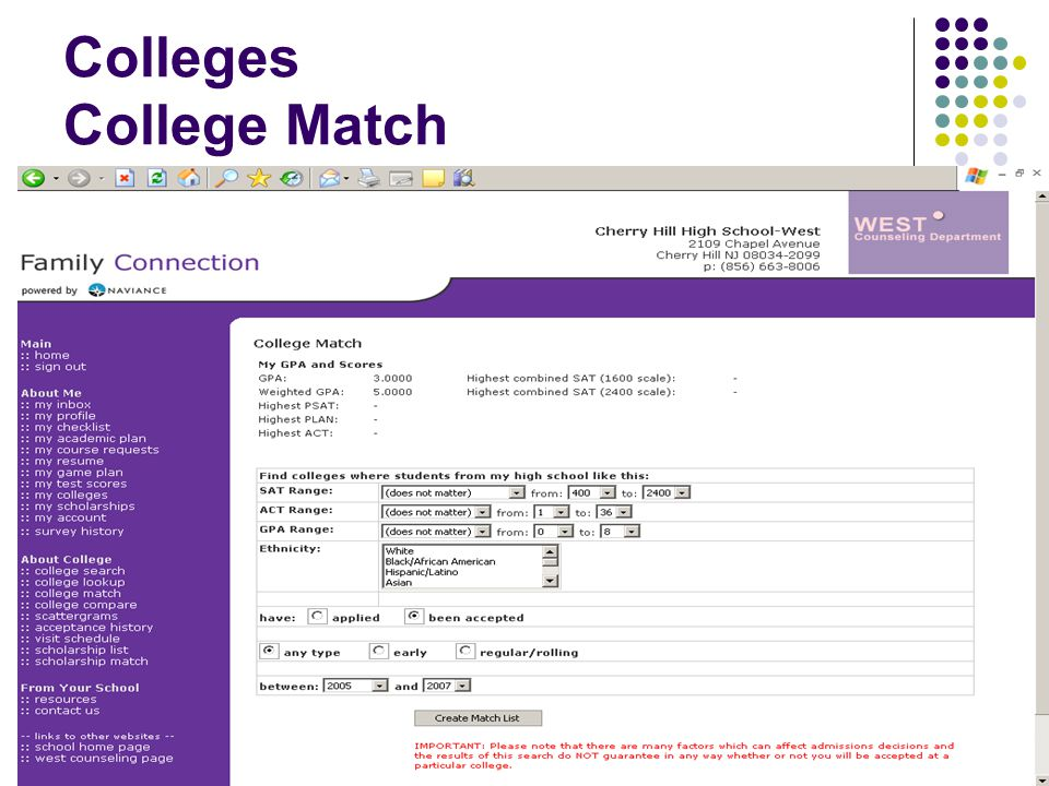 Colleges College Match