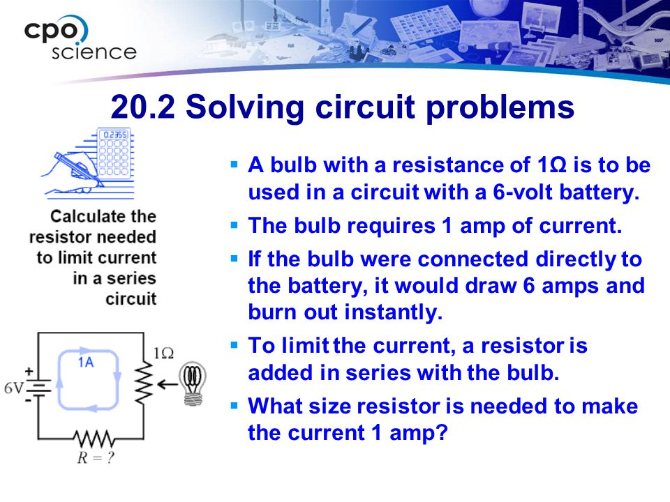 20.2 Solving circuit problems