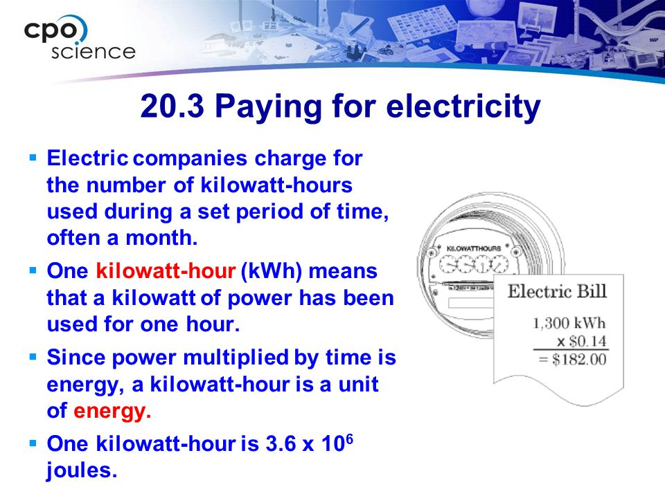 20.3 Paying for electricity