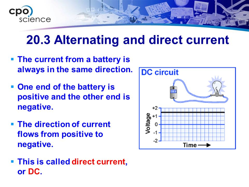 20.3 Alternating and direct current