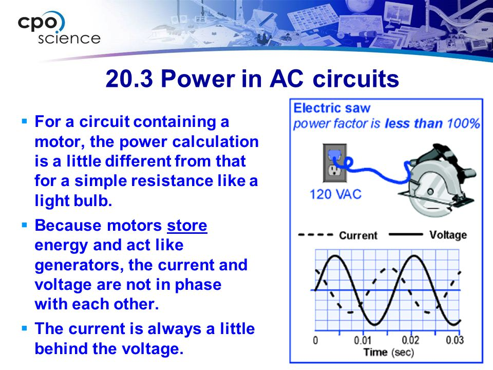 20.3 Power in AC circuits
