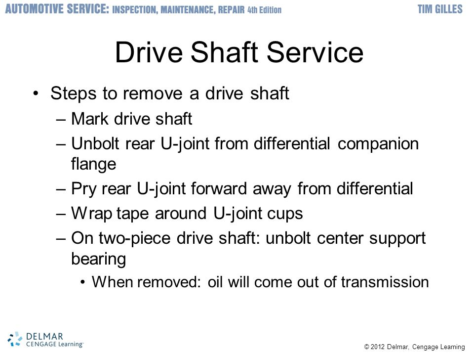 Driveline Diagnosis and Service - ppt video online download