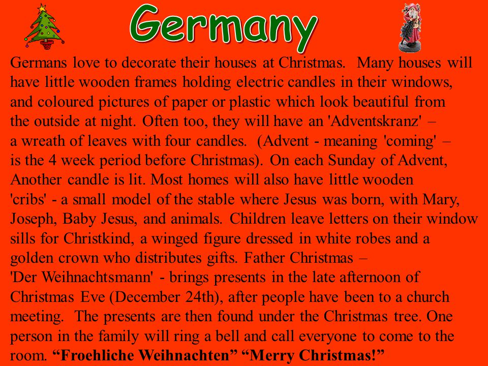 germany germans love to decorate their houses at christmas many houses will have little - Christmas Around The World Theme Decorations