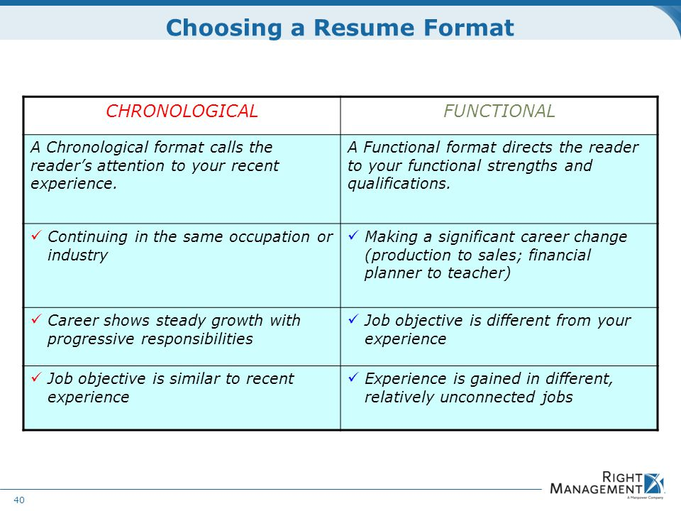 Resume Development WELCOME Materials: Resume guidelines worksheets ...