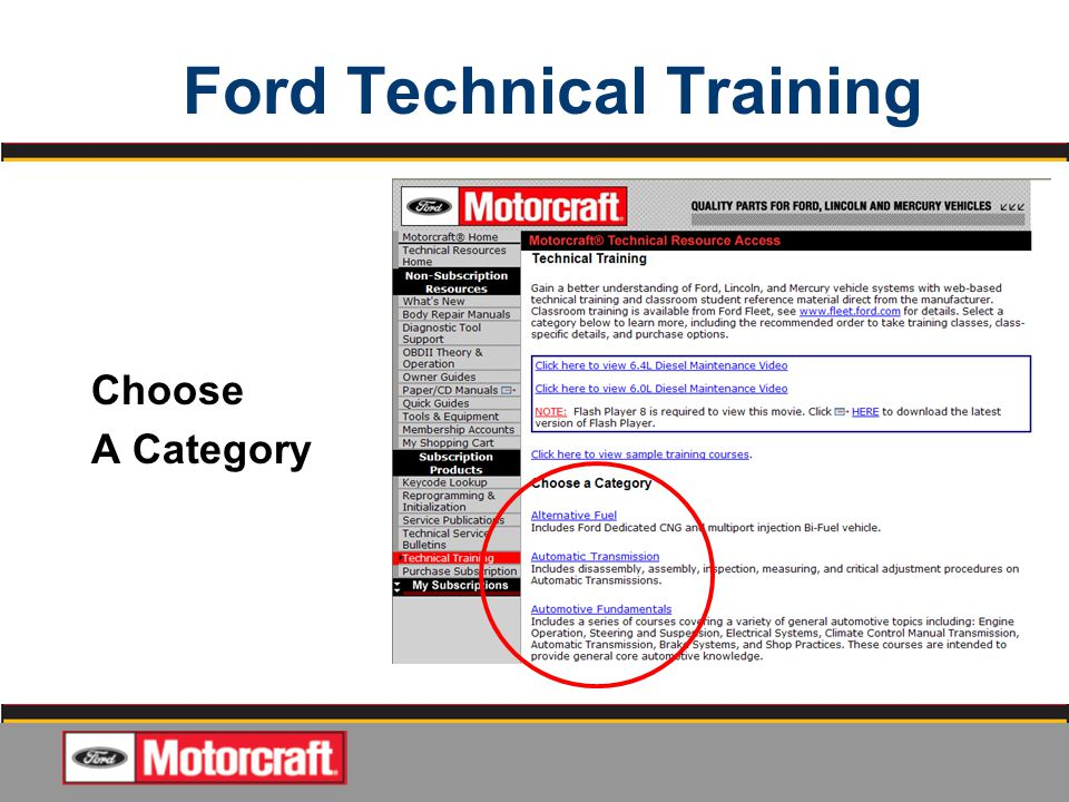 Quality jobs start with ford oem service information available ford technical training fandeluxe Image collections