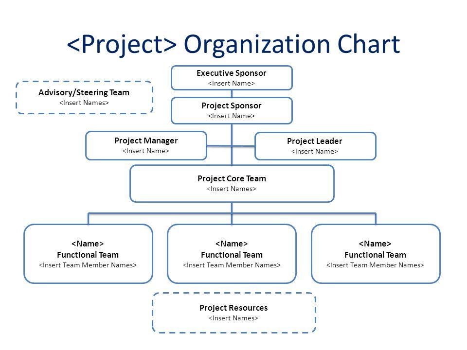 5 Project Organization Chart