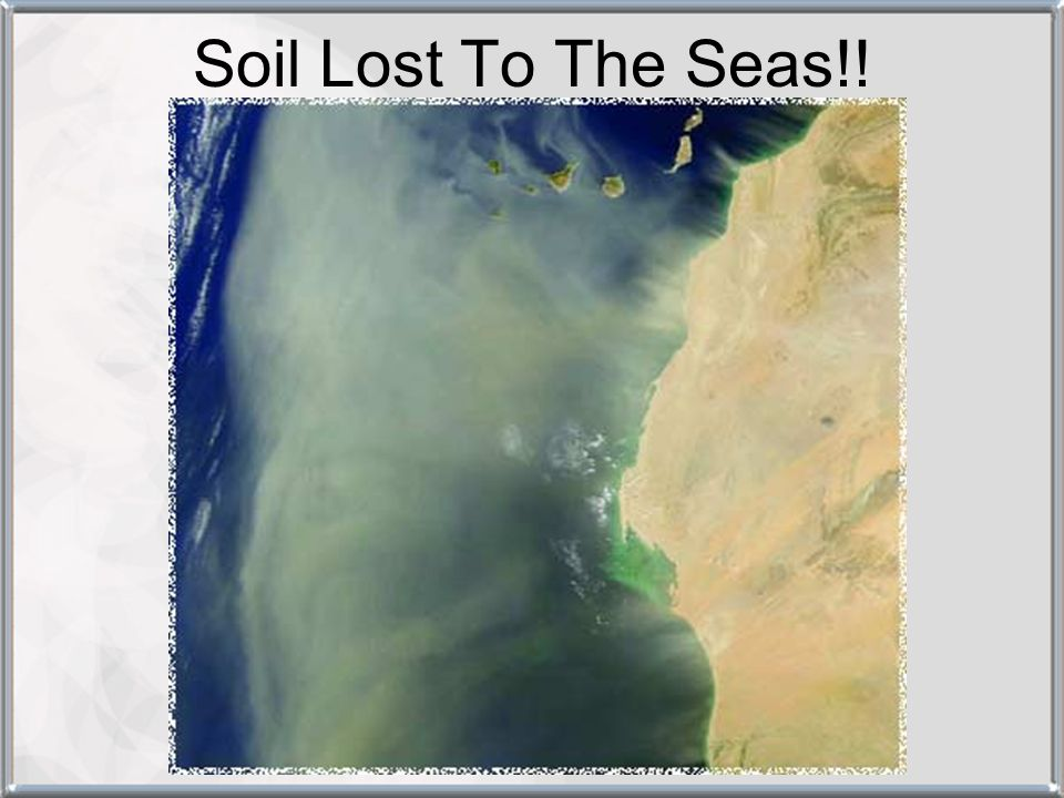 Soil Lost To The Seas!!