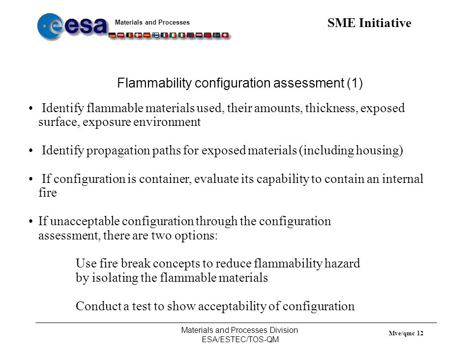Flammability configuration assessment (1)