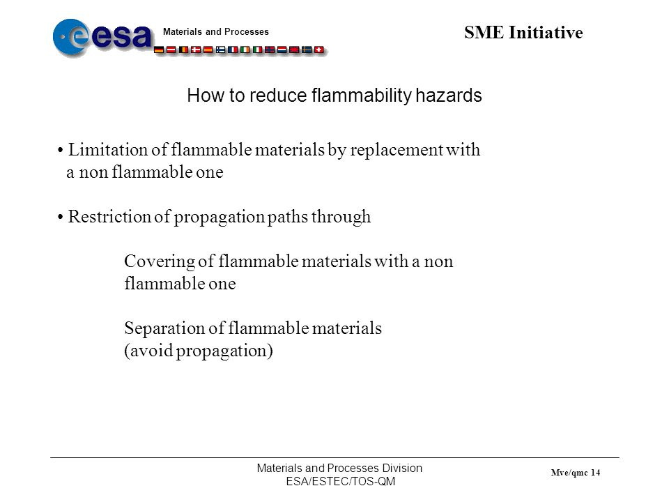 How to reduce flammability hazards