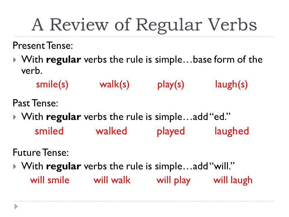 Verb Tenses Irregular Verbs Ppt Video Online Download