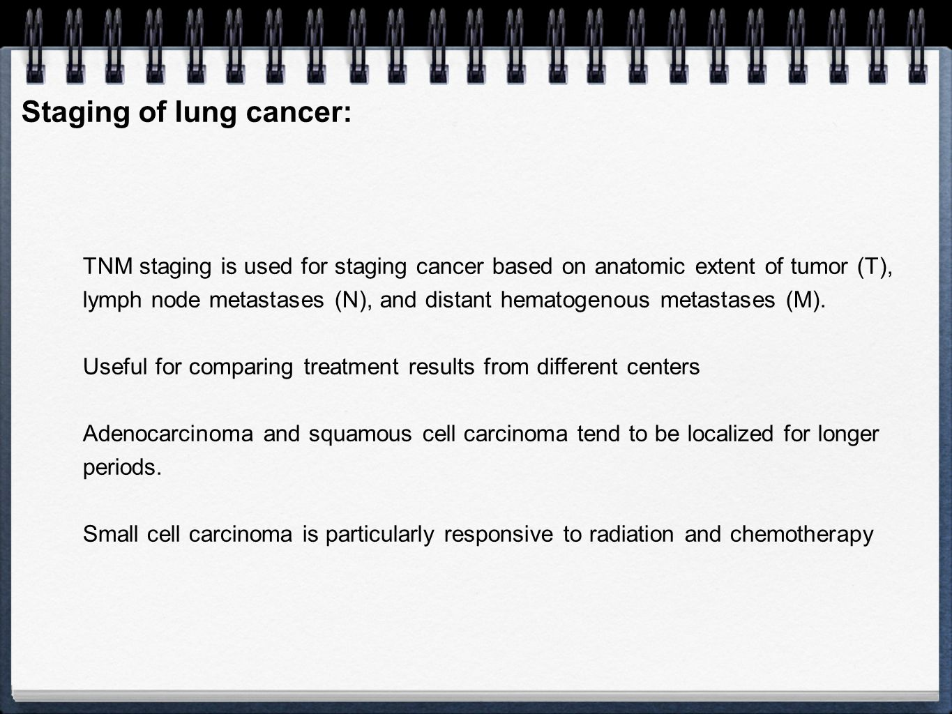 Staging of lung cancer:
