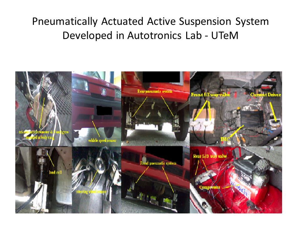 Pneumatically Actuated Active Suspension System Developed in Autotronics Lab - UTeM